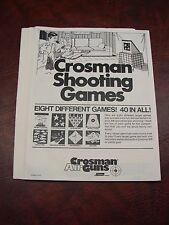 "40 Vintage Crosman ""SHOOTING GAMES"" BB Gun Targets - complete Set !"
