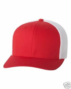 Flexfit Trucker Cap Fitted Mesh Hat 6511 Baseball Hat - One Size - NEW 33 Colors