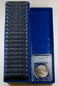*Box of 20* 1971 Eisenhower IKE Dollars PCGS MS-64, $1 Roll Lot