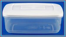 0.8L RECTANGLE PLASTIC FOOD STORAGE LUNCH BOX CONTAINER LID CANISTER STORER TUB