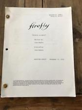 """Firefly Tv Series Script """"Objects in Space"""" Joss Whedon"""