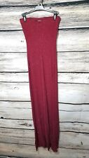 Charlotte Russe Women's Size Small Full Length Red Sparkle Dress Glitter Sequin