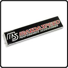 Mazdaspeed Aluminio Insignia Emblema De Metal Mx3 Mx5 Mx6 Rx7 Rx8 Mazda 2 3 5 6 coche 73