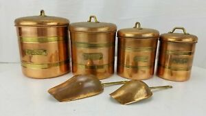 Copper Kitchen Storage Containers w/ Scoops