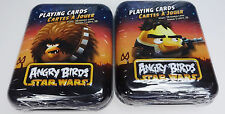2 Angry Birds Star Wars Playing Cards New In Sealed Tins Chewbacca Hans Solo