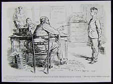 Glass Magic Lantern Slide EDWARDIAN CARTOON NO9 C1910 DRAWING WW1 RECRUITMENT
