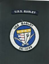 USS Bagley DE 1069 Navy Jacket Patch with Shoulder Tab