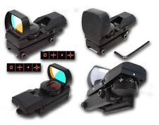 MIRINO SOFTAIR RED GREEN DOT OLOGRAFICO LENTE QUADRA AIRSOFT HOLO SIGHT sas 0400