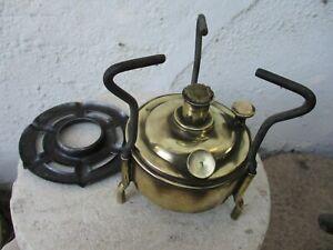Vintage in Brass Museum Portable Camping Alcohol Tapiol Stove Spirit Burner