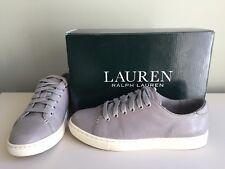4b0bfa735 Ralph Lauren Waverly Womens Leather Pumps Trainers Grey Stone UK 4.5  37  RRP£109