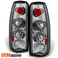 Fit 88-00 C/K C10 GMC Sierra Yukon Pickup Truck LED Chrome Tail Light Lamps