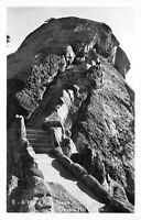 RPPC Moro Rock Sequoia National Park - stairs -1949 Real Photo POSTCARD