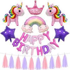 Unicorn Happy Birthday Party Supplies Balloon Unicorn Birthday Decorations Set