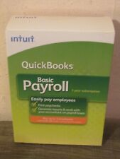 2009 Quickbooks Basic Payroll Accounting Software for Windows - NEW/Sealed!