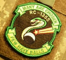 SAC RECON SQN RS RC-135 COBRA BALL MANY ARE CHOSEN FEW HAVE BALLS burdock PATCH