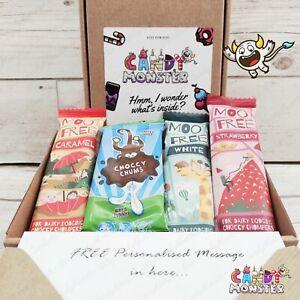 Personalised MOO FREE Vegan Gluten Dairy Free Chocolate Hamper Gift Box Present