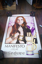 YSL MANIFESTO CHASTAIN A 4x6 ft Bus Shelter Original Fashion Vintage Poster