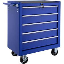 Carrello portautensili 5 cassetti porta utensili attrezzi officina arebos blu