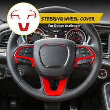 3x Steering Wheel Frame Cover Trim for Dodge Challenger/Charger 15+ Accessories