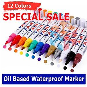 White Paint Pen Marker Waterproof Permanent Car Tire Lettering Rubber Letter