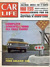 Car Life Magazine January 1962 Ford Galaxie 390 Jimmy Murphy VG 020516jhe