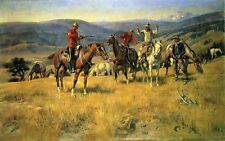 WESTERN ART POSTER Outlaw - Charles M Russell RARE NEW