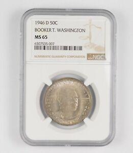 MS65 1946-D Booker T. Washington Commemorative Half Dollar - Graded NGC *087