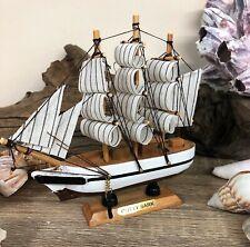 More details for cutty sark tea clipper replica ship ornament 15.5cm nautical coastal decor 7589