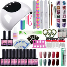 Gel Polish Starter Kit UV LED Nail Lamp 10 Colors Top Base Coat Nail Art Tools