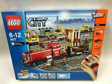 New Sealed LEGO CITY TRAIN 3677 Red Cargo Train Freight Discontinued