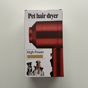 Pet Hair Dryer High Power Smart Temperature Control, Red