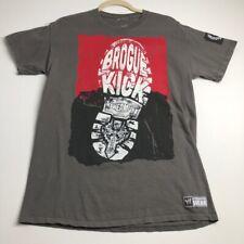 WWE Brogue Kick Sheamus Men's Short Sleeve T Shirt Medium M Gray Wrestling Crew