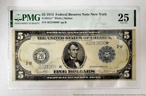 Large Size PMG Very Fine 1914 White Mellon Star Federal Reserve Note FR851C
