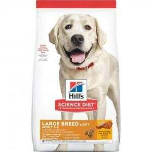 Hill's Science Diet Large Breed Light Adult Chicken Dry Dog Food 12kg