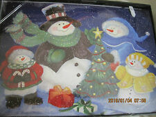 New Christmas 18/pk Snowman Cards decorated envelopes & inside glitter tree box
