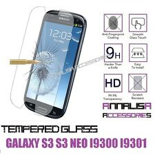 PELLICOLA VETRO TEMPERATO SAMSUNG GALAXY S3 i9300 / S3 NEO i9301 TEMPERED GLASS