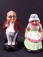 Artone England  MR & MRS FETTIWIG SALT & PEPPERS SHAKERS Dickens