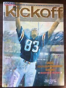 USFL KICKOFF CHAMPIONSHIP GAME INAGURAL SEASON PROGRAM DENVER COLORADO 1983