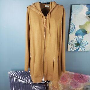 Lori By Lori Goldstein Mustard Color Hoodie Lounge Wear Jacket Size 3x