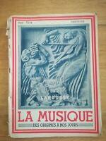 LA MUSIQUE DES ORIGINES A NOS JOURS - HACHETTE 1946 FASCICULE N°7
