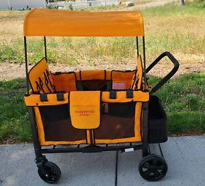 Wonderfold Wagon W4 Push 4 Seat Double Stroller orange NEW