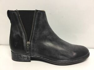 Frye Womens Carly Double Zip Black Bootie Size 7.5M""