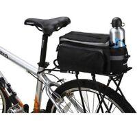Cycling Bicycle Bike Pannier Rear Seat Bag Rack Trunk Shoulder Handbag  Black