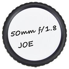 4x Writable Rear Lens Cap Protector + Printed Stickers for Nikon F-Mount Lenses