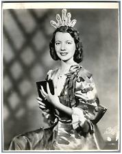France, Lily Pons, cantatrice soprano  Vintage . Photo De Bellis  Tirage argen
