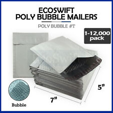 1 12000 T 5x6 Ecoswift Poly Bubble Mailers Padded Shipping Envelopes 5 X 6