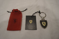 New Ferrari Metal key holder carbon fiber effect 12740 Mans Driver Black