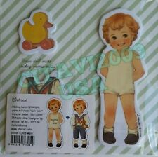 NEW! AFROCAT PAPER DOLL MATE STICKEY NOTES, STICKEY MEMO PAD, BOY DOLL GREY -USA