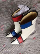 Vintage 1960's Mondrian Mod Go-Go Boots Museum Deaccession Size 6.5 Unworn Rare