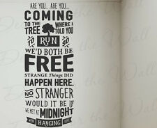 Hanging Tree Hunger Games Jennifer Lawrence Wall Decal Vinyl Art Saying Q72